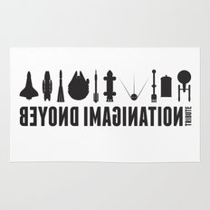 Beyond imagination: USS Enterprise postage stamp  Rug