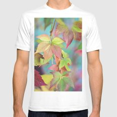Colorful fall Mens Fitted Tee MEDIUM White