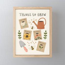 Things to Grow - Garden Seeds Framed Mini Art Print