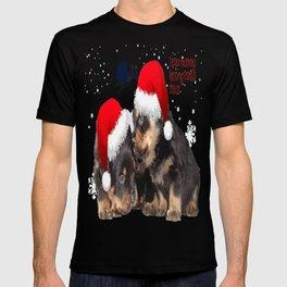 Puppy White Christmas I Saw Mummy Kissing Santa Claus T-shirt