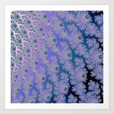 Smokey Blues Fractal Art Print