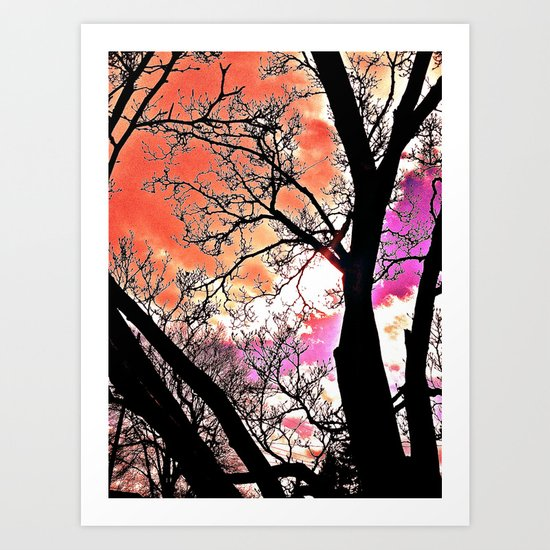 Violet Night  Art Print