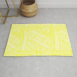 Sketchy Abstract (Yellow & White Pattern) Rug