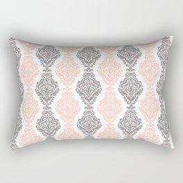 Pink Purple Damask Rectangular Pillow