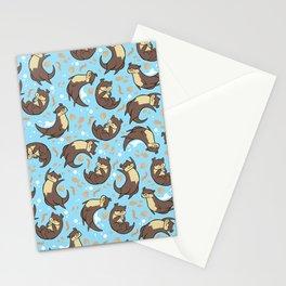 Otter Pattern Stationery Cards
