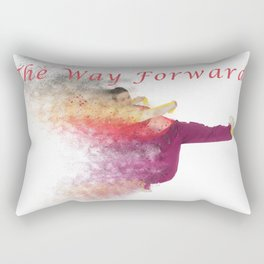 Famous humourous quotes series: The way forward. Exploding hiphop dancer  Rectangular Pillow