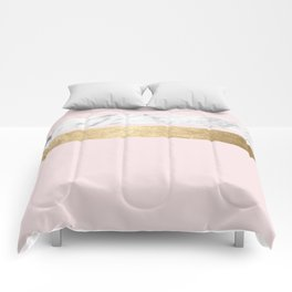 Baby doll - blush pink marble Comforters