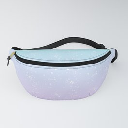 Turquoise and Lavender Pastel Bokeh Effect Ombre Fanny Pack