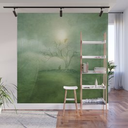 Greenery Sunrise Wall Mural