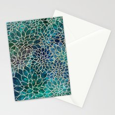 Floral Abstract 4 Stationery Cards