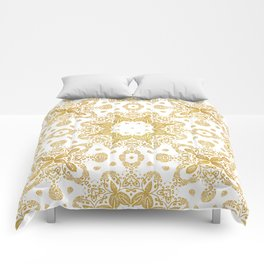 Golden pattern Comforters