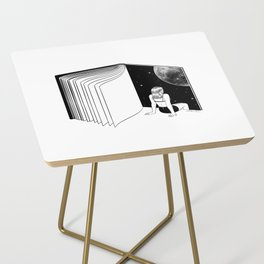 Reading is Dreaming with Your Eyes Open Side Table