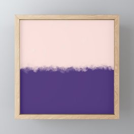 Modern purple blush pink watercolor colorblock Framed Mini Art Print