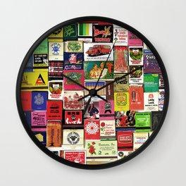 Antique Matchbooks Wall Clock