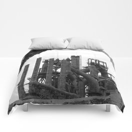 Bethlehem Steel Blast Furnace 7 Comforters