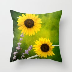 Sunflowers. Throw Pillow