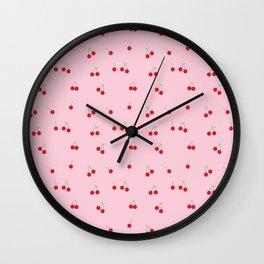 Cherry Bomb Patterned Art Print Wall Clock