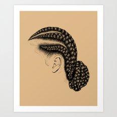 Crown: Low Braided Bun Art Print