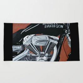 Harley Rider Beach Towel