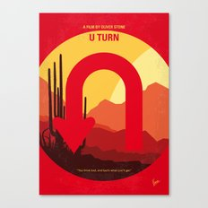 No745 My UTurn minimal movie poster Canvas Print