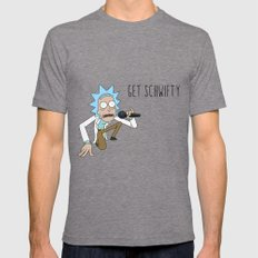 Rick and morty Get schwifty Tri-Grey Mens Fitted Tee LARGE