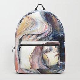 """""""Great Void"""" Watercolour and Gouache Surreal Painting Backpack"""