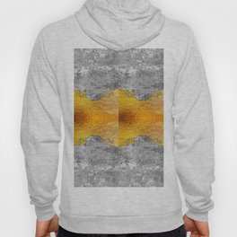 Golden foil and concrete Hoody