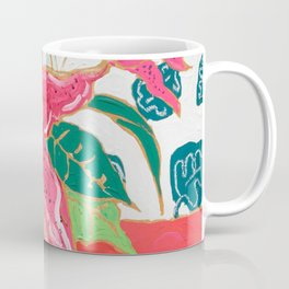 Pink and White Lily Bouquet with Matisse Wallpaper Coffee Mug