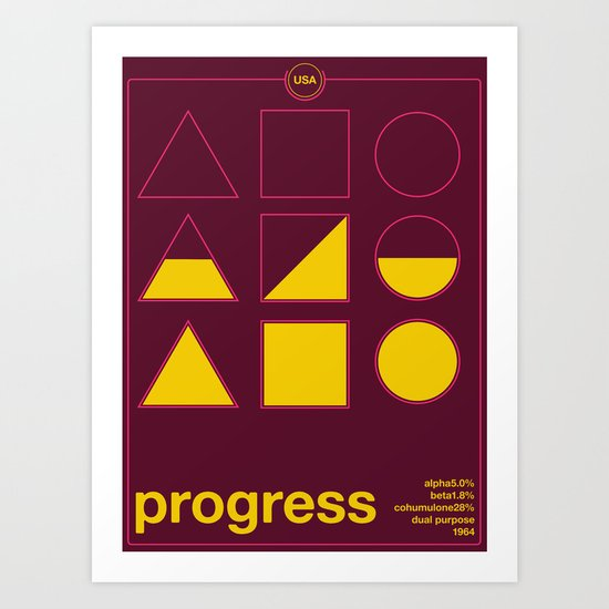 progress single hop Art Print