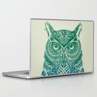 friend Laptop & iPad Skins featuring Warrior Owl by Rachel Caldwell