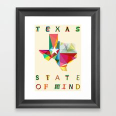 Texas State Of Mind Framed Art Print