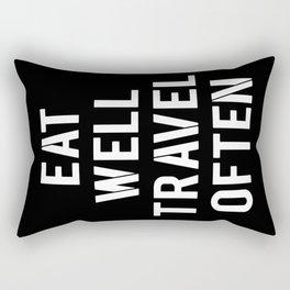 eat & travel Rectangular Pillow