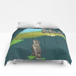 Easter island Comforters