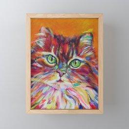 Big fat cat Framed Mini Art Print
