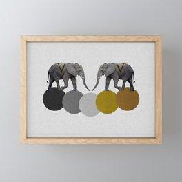 Tribal Elephants Framed Mini Art Print