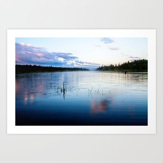 morning on raquette lake Art Print