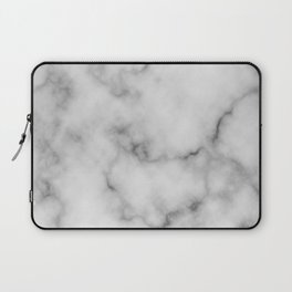 White Marble Pattern Laptop Sleeve