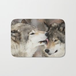 Wolf Kisses Bath Mat