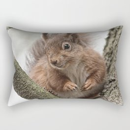 red squirrel in frame Rectangular Pillow