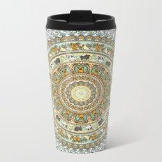 Pug Yoga Medallion Metal Travel Mug