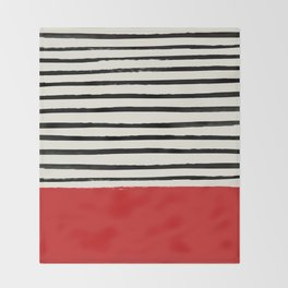 Red Chili x Stripes Throw Blanket