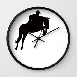Jumping Horse Silhouette Wall Clock