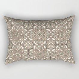 Ornamental Scroll Pattern Earthen Trail, Melon Green, Dover White & Ever Classic Gray Rectangular Pillow