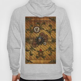 Noble steampunk design with clocks and gears Hoody