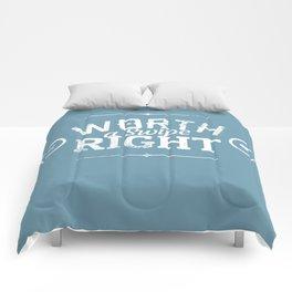 WORTH A SWIPE RIGHT Comforters