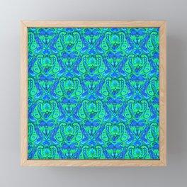 Moroccan Inspired Paisley Tile Framed Mini Art Print