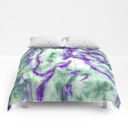 Encaustic Horse (Purple) Comforters