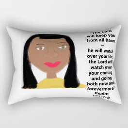 Psalm 121:7-8 #2 Rectangular Pillow