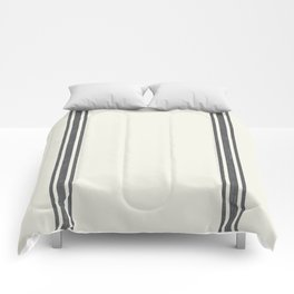 Vintage Country French Grainsack Grey Gray Stripes Cream Background Comforters