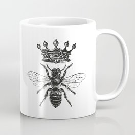 Queen Bee | Black and White Coffee Mug